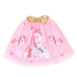 Bebek Kızlar Gökkuşağı X Unicorn TUTU Etek 2019 Kız Çocuklar Için Giysi Karikatür Altın Yay Etek 100-140 cm Için nereden