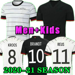 2021 германиевые наборы Top Can 2020 2021 Germany Kroos White Home Soccer Jersey Muller Reus Brandt Werner GOTZE 20 21 AULL FOOTHION рубашка Мужские наборы Citmels