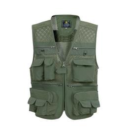 Argentina Hombres Multi-bolsillo Fotografía Chaleco de malla Chalecos de verano Hombres 5-5 supplier mesh vests for men Suministro