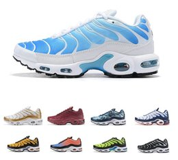 Zapatillas sneakers hombre en Ligne-2019 Top Hommes Greedy Nike Air Max airmax running shoes Plus Tn Ultra SE Noir Blanc Bleu Rose Pink Zapatillas Hombre Chaussures De Course De Plein Air TN chaussures formateurs Hommes Sneakers 40-46