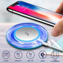 Qi cargador inalámbrico receptor nota online-Cargador inalámbrico Adaptador Adaptador QI Cargador inalámbrico Pad para iPhone X 7 8 Plus Samsung Galaxy S8 S8 Plus Edge Note 8