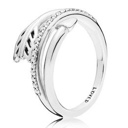 d0b2bda74ec9 Auténtico anillo de plata esterlina 925 anillos de flecha chispeantes con  cristal para las mujeres del regalo del banquete de boda joyería fina de  Europa