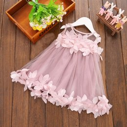 Baby Girl Clothes Lace Flower Girl Dress Floral Toddler Princess Dresses Infant Party Gown Baby Shower Gift Summer Newborn Clothing Yw3930