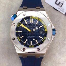 2019 hot sale Mens Watch Limitada Royal Oak Offshore Diver Movimento Automático Relógios de Borracha 42mm Relógio de Pulso Gravado Voltar Topo Qualit de
