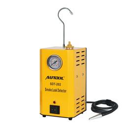 Outils à gaz en Ligne-TLXC SDT202 Machines à fumée de voiture Détecteur de fuite de tuyau automatique Diagnostic automobile Analyseur de fuite de gaz de smog Détecteur Découvrir Outil