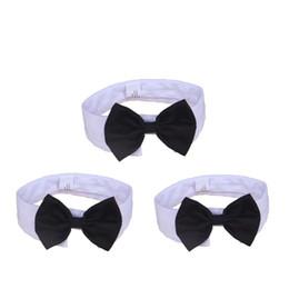 Cani collari di cane online-Papillon formale Pet Holliday Wedding Collare per cani Abbigliamento per cani Accessori per costumi Nero giallo per cani di piccola taglia