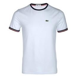 marcas t shirt francês Desconto T-shirt do desenhador dos homens top algodão bordado crocodilo impressão T-shirt, top marca francesa pescoço tag --medusa medo de deus ralph polo branco fora