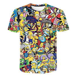 Simpsons t-shirt xl en Ligne-Les Simpsons Homer 3D Imprimer T-shirt Bart Simpson House Vêtements Homer Simpson Sweat-shirt Costume hommes / femmes Simpson famille shirt