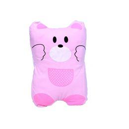 Almohada de cabeza de oso online-Bear Carton Pillow For Baby Room Decor Infantil Anti Flat Head Cushion Universal Newborn Almohadas Anti Roll Protector de cuello para niños