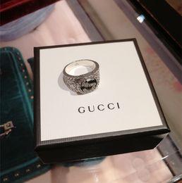 2019 regalos de vikingos 925 plata esterlina Viking ronda gran ancho Signet gg anillo dedo mujeres hombres negro plata diseñador de moda joyería Vintage novio regalos regalos de vikingos baratos