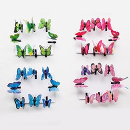Moscas falsas online-10 piezas Fairy Fake Butterfly Hairpin Woodland Party Favor Kid Barrette Cute Theme Party Girls Animal Flying Butterfly Hair Clip