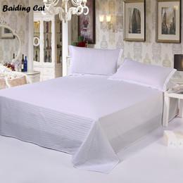 lastre di orchidee Sconti Lenzuolo per per gli ospiti dell'hotel del cotone dello strato 100% della lamina d'argento dell'hotel di 40S biancheria di lusso 160 * 240cm, 200 * 240cm, 230 * 240cm, 240 * 260cm del letto