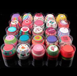 torta in miniatura all'ingrosso Sconti Carta Cupcake Wrapper Muffin Tazze da forno Scatole Muffin Cup Scatole Party Vassoio Torta stampo Cake Decorating Tools Utensili da cucina Torta YW3282
