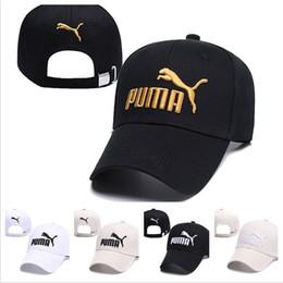 Chapeaux de designer en Ligne-Puma 2019 Nouveau designer chapeaux casquettes hommes femmes Baseball Cap Fitted Cap Snapback Hat Pour Hommes Bone Femmes Gorras Casual Casquette Lettre Black Cap