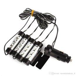 volkswagen karte Rabatt Blau 4 in 1 12V 4 x 3 LED Autoinnenbeleuchtung dekorative Atmosphäre Licht Lampe (Einzelhandel)
