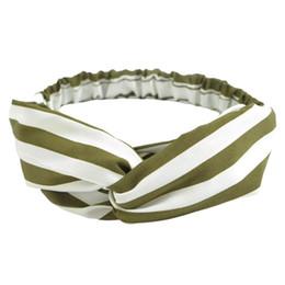 Arcos de menina negra on-line-Headband Acessórios Black Hair Bands Tie Para Mulheres Lazer Meninas Bow Elastic Cruz Veludo Clássico Cor Faixa De Cabelo Menina Stripe