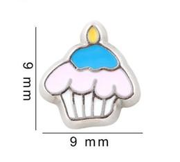 Canada 20pcs / lot gâteau de crème glacée Floating Locket Charms Accessoires en alliage bricolage Fit Pour Living Mémoire Magnétique Verre Floating Locket cheap ice cream float Offre