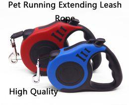 2019 прогулка по продукту ПЭТ работает ходьба удлиненный поводок веревка свинец для небольших средних собак Зоотовары выдвижной поводок для собак автоматическая собака щенок 3 / 5м дешево прогулка по продукту
