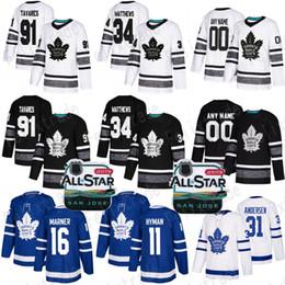 Kadri jersey online-2019 All Star John Tavares Auston Matthews Maple Leafs de Toronto Jersey Zach Hyman Frederik Andersen Morgan Rielly Kasperi Kapanen Nazem Kadri