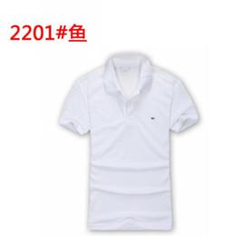 9ac5d23275712 Lacoste marca de verão de luxo crocodilo bordado T-shirt T-shirt designer  de camisa polo de rua bordado de impressão homens polo