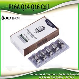 bobine di sostituzione a fumo Sconti Testa di bobina originale Justfog 1.2ohm 1.6ohm Bobine di ricambio giapponesi organiche OCC per C14 P14A P16A Q14 Q16 Kit 100% nuovo autentico