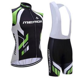 laranja ciclismo jersey térmico Desconto 2019 equipe MERIDA camisa de ciclismo sem mangas colete conjuntos de roupas de verão roupas de ciclismo de verão Ropa ciclismo roupas de bicicleta esporte K061204