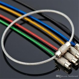 20PCS Stainless Steel 20cm Wire Keychain Cable Key Ring LW