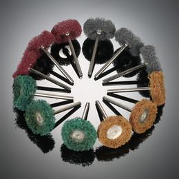 accessoires abrasifs Promotion 12PCS électrique aneth broyage accessoires roue abrasive nylon gravure de fibres tête de ponçage polissage roue de polissage