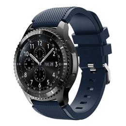 2019 montres s3 Bande pour Samsung Gear S3 Frontier, courroie de rechange en silicone souple Sport avec broches à dégagement rapide de 22 mm pour montre Samsung Gear S3 Frontier montres s3 pas cher