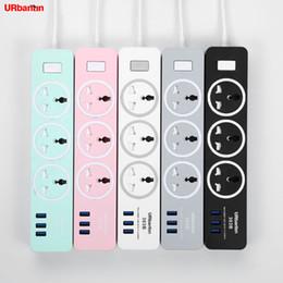 2019 bande de puissance usb uk Power Strip Smart plug Home Electronics Prise de charge rapide avec prise USB Prise universelle Prise de rallonge pour EU UK AU bande de puissance usb uk pas cher
