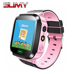 2019 relógio para crianças Slimy q02 bebê 2g sos smart watch lbs rastreamento localizador de crianças smartwatch despertadores bebê relógio de pulso pk q528 q50 q90 relógio para crianças barato