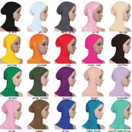 2019 cappello da bagno per bikini Cuffia da nuoto da donna multicolore modale morbida Hijab musulmano Scialli da nuoto Costume da bagno da donna islamico Cappellino da bikini bikini cappello da bagno per bikini economici