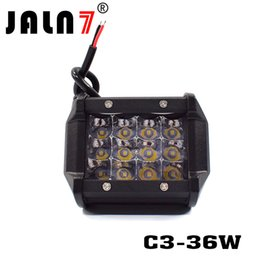 luce del tetto del tetto Sconti 4 inch 12 LED 36W 3 file Car Light Bar Roof Spot fascio di luce per camion fuoristrada 10-30V