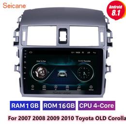Deutschland 9-Zoll-Android 8.1 Head Unit GPS Autoradio für 2007 2008 2009 2010 Toyota Corolla OLD mit WIFI Unterstützung DVR OBD2 1080P Video-Unterstützungskamera Versorgung