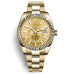 Cor ouro de luxo on-line-11 cores relógio de luxo 42mm 326934 SKY relógio automático DWELLER Aço inoxidável 18K relógios de ouro 2813 movimento mens relógios relógio de pulso