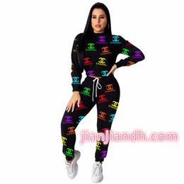 2019 senhoras moda jogging ternos ZH5116 explosão modelos de moda calças high-end das mulheres atender A21 duas peças Europeu e best-sellers letras das mulheres americanas