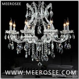 Maria theresa luz araña de cristal online-Venta caliente Maria Theresa Clear White Crystal Chandelier Lamp Lustre Cristal Pendelleuchte Luminaria de calidad superior 8 Luces