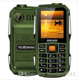 Deutschland Hotsale Mini militärische Feldstärke drei Proofs Handys GSM 6800mha Super-lange Standby-Portugues Französisch Spanisch Englisch Russisch Versorgung