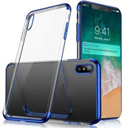 escudo Desconto Luxo Caso de Silicone Fino Macio Transparente TPU Três Estágios Chapeamento Caso Capa Do Telefone Para o iphone XS Max XR 6 6 S 7 8 Shell Macio