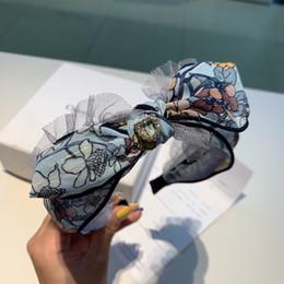 Deutschland Designer Kreuz Knoten breite harte Stirnbänder für Frauen Farbverlauf Logo gedruckt Haarband Bloom Haarband mit Originalverpackung Mädchen Geschenkideen supplier girl gifts ideas Versorgung