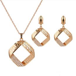 Canada ensembles de bijoux de créateurs ensembles de forme carrée pour femmes dîner à la mode chaude et gracieuse sans expédition Offre