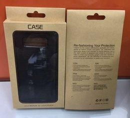 крафт-упаковка Скидка Универсальный Крафт-Бумага Розничная Упаковка Упаковка Коробка Для Iphone XR XS MAX X 8 7 Plus P30 S9 S8 Жесткий Мягкий ТПУ Кожаный Чехол Чехлы Роскошные