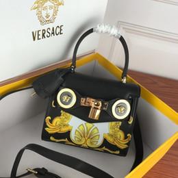 2019 cerniera piccola tasca di cotone donne di stile di borse classico retrò borsa di alta qualità blocco hardware tote borsa in pelle borse borsa borsa crossbody spalla Europa e in America