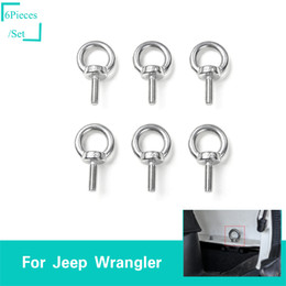 accessories for jeep Coupons - Silver 4 Doors Car Roof Screw Round Hole Head For Fit Jeep Wrangler JL 2018+ Car Exterior Accessories