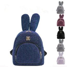 eaf375e58ea37 Kadın Sequins Sırt Çantası Kızlar Moda Sevimli Tavşan Kulakları Mini Genç  Kızlar için Okul Çantaları Seyahat Çantası MMA1363 supplier cute teenage  bags