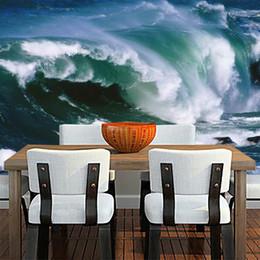 Murales oceaniche online-[Autoadesivo] 3D Big Ocean Wave 37125 Carta da parati murale Stampa murale Adesivi murali