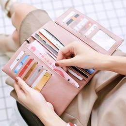 Nuevas billeteras triples para mujer Cartera de cuero con chequera Monedero Bloqueo RFID con organizador de tarjeta de crédito desde fabricantes