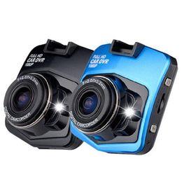 Grabadora de video sd online-Mini Cámara DVR para Coche Forma de Escudo Dashcam Full HD 1080 P Grabador de Video Registrador Visión Nocturna Carcam Pantalla LCD Piloto de Conducción Cámara