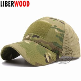 special hats Promo Codes - LIBERWOOD ACU Multicam Operator Hat Special Force Camo Mesh Cap Airsoft Hat for Men Tactical Contractor Army Baseball caps Hat
