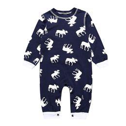 2019 nouveau bébé barboteuse infantile nouveau-né garçons filles vêtements automne manches longues impression de renne noël orignal jumpsuit barboteuses ? partir de fabricateur